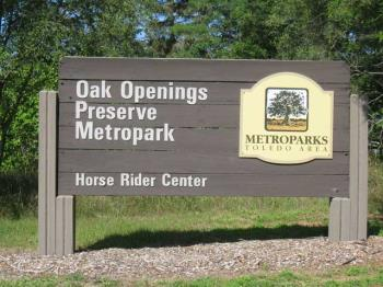 Who Wouldn't Want to Ride at Oak Openings Metro Park (and pick up an order at RAMM Fence)?