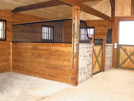 how to build a horse stall cheap
