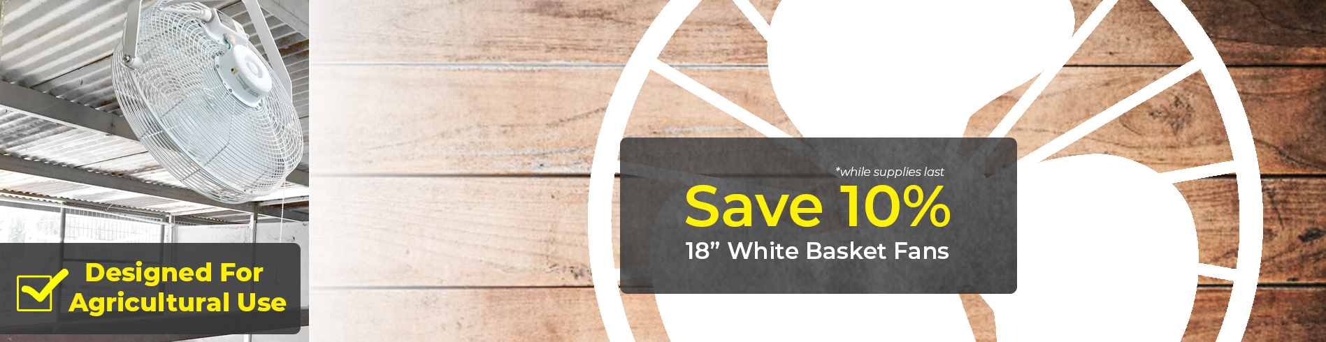 "Save On 18"" White Fans"